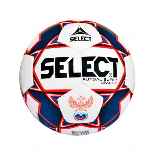 Мяч футзальный Select Super League 850718, №4, белый/синий/красный