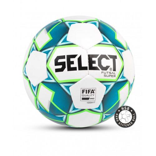 Мяч футзальный Select Futsal Super FIFA 850308, №4, белый/синий/зеленый