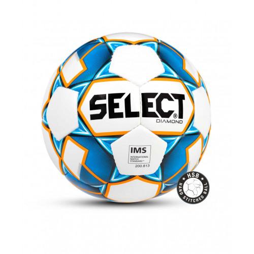 Мяч футбольный Select Diamond IMS 810015, №4 белый/синий/оранжевый