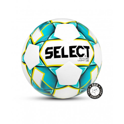 Мяч футбольный Select Future Light DB 811119, №3 белый/бирюзовый/желтый