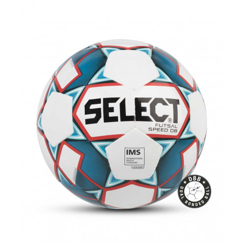 Мяч футзальный Select Futsal Speed DB IMS 850118, №4, белый/синий/красный