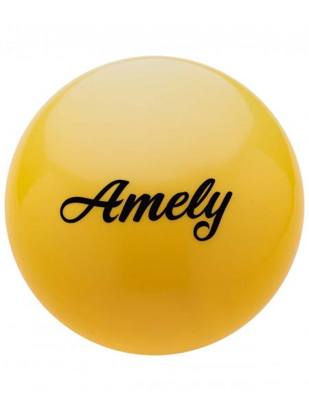 Мяч для художественной гимнастики Amely AGB-101 15 см, желтый