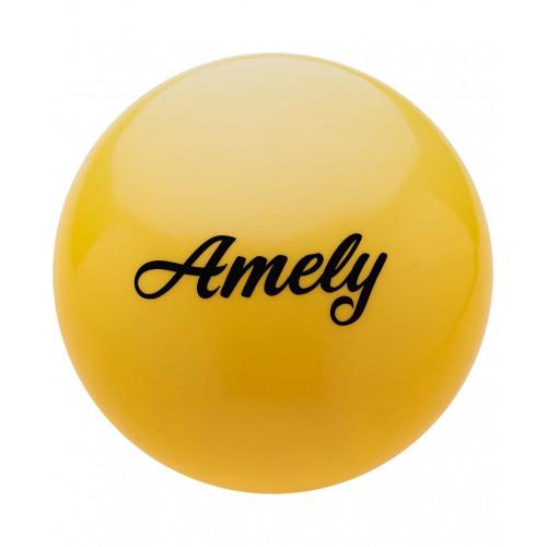 Мяч для художественной гимнастики Amely AGB-101 19 см, желтый