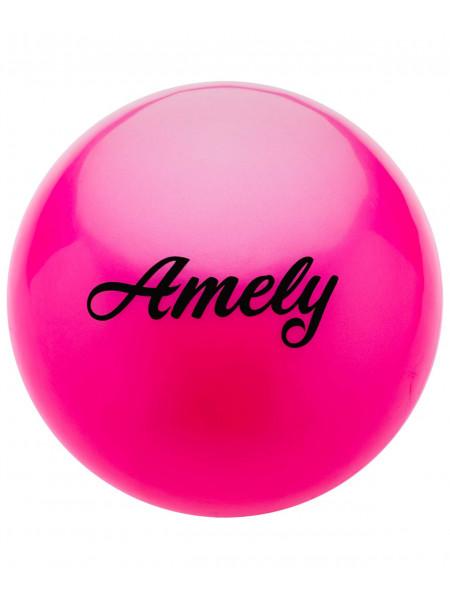 Мяч для художественной гимнастики Amely AGB-101 15 см, розовый