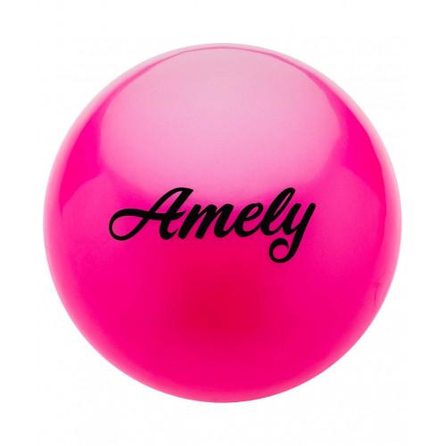 Мяч для художественной гимнастики Amely AGB-101 19 см, розовый