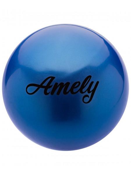 Мяч для художественной гимнастики Amely AGB-101 15 см, синий