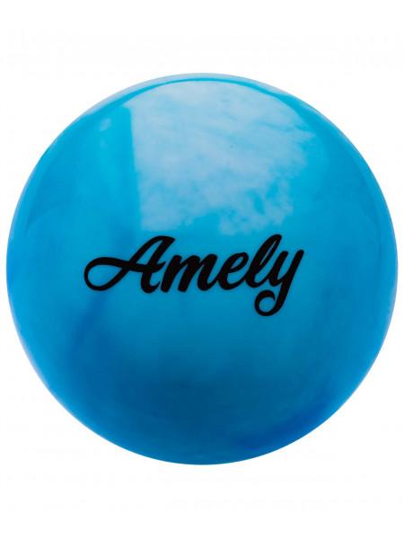 Мяч для художественной гимнастики Amely AGB-101 15 см, синий/белый