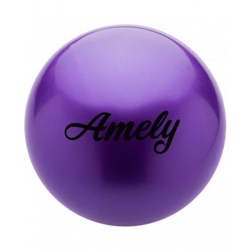 Мяч для художественной гимнастики Amely AGB-101 15 см, фиолетовый
