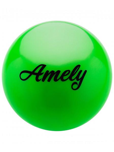 Мяч для художественной гимнастики Amely AGB-101 15 см, зеленый
