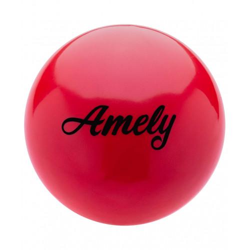 Мяч для художественной гимнастики Amely AGB-101 15 см, красный