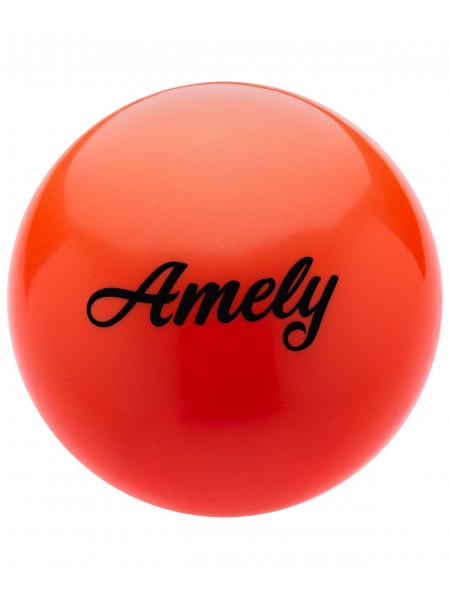 Мяч для художественной гимнастики Amely AGB-101 15 см, оранжевый