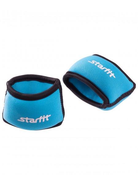 """Утяжелители для рук Starfit """"Браслет"""" WT-101, 0,25 кг, синие/черные"""