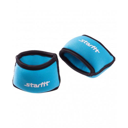 """Утяжелители для рук Starfit """"Браслет"""" WT-101, 0,5 кг, синие/черные"""