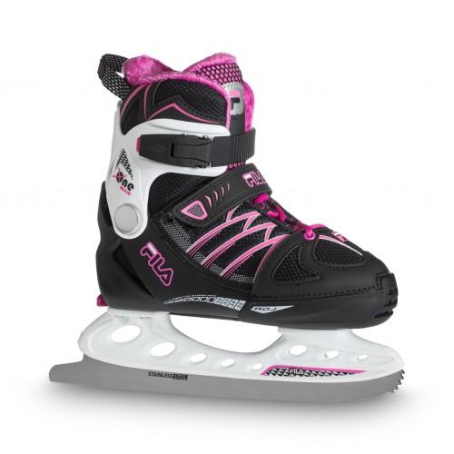 Раздвижные коньки FILA X-ONE ICE G черный/белый/пурпурный