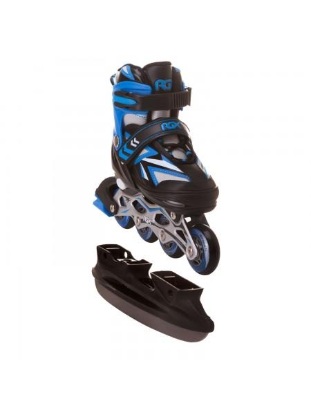 Раздвижные коньки RGX (со сменными роликами) Rocket синий