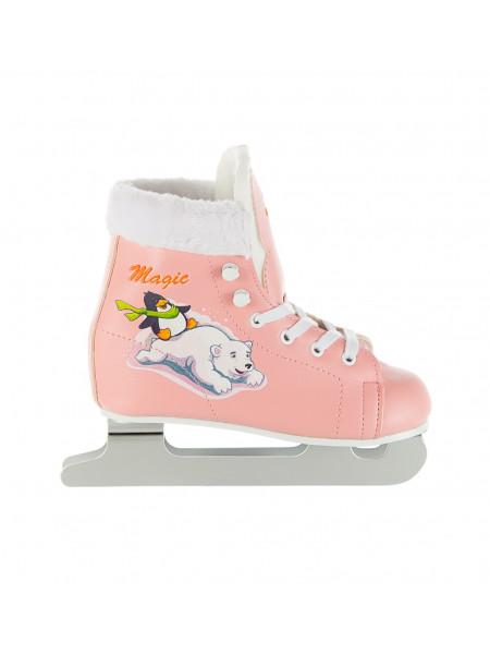 Двухполозные коньки СК (Спортивная Коллекция) Magic (детские) розовый