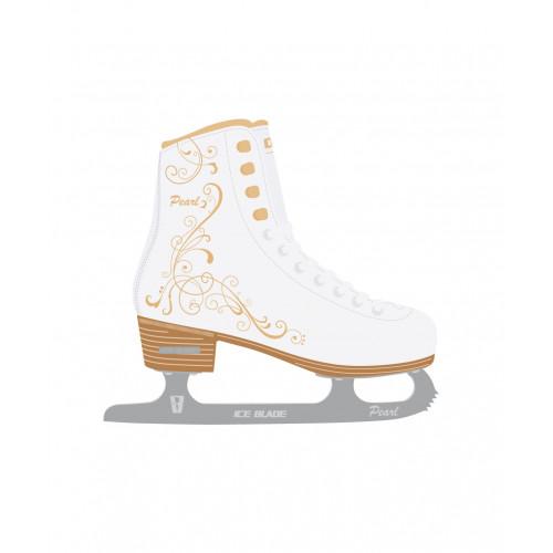 Фигурные коньки Ice Blade Pearl синт.кожа с мехом