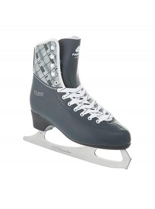 Фигурные коньки СК (Спортивная Коллекция) Fashion Lux Checks серый