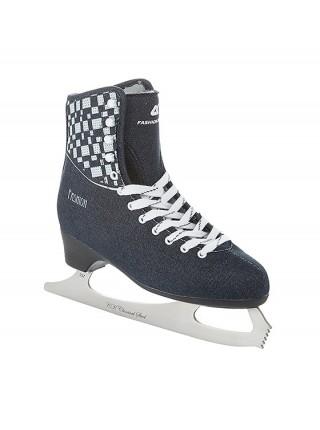 Фигурные коньки СК (Спортивная Коллекция) Fashion Lux Jeans синий