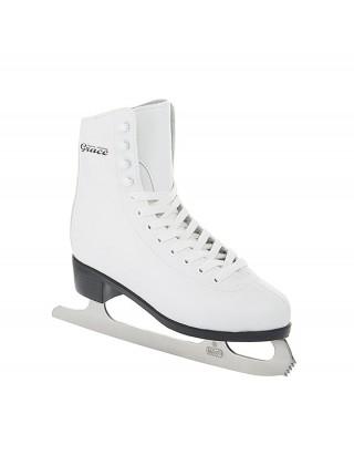 Фигурные коньки СК (Спортивная Коллекция) Grace Leather белый