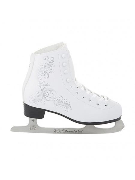 Фигурные коньки СК (Спортивная Коллекция) Ladies Fur Classic белый