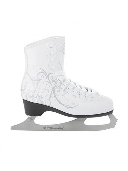 Фигурные коньки СК (Спортивная Коллекция) Ladies Lux Fur белый