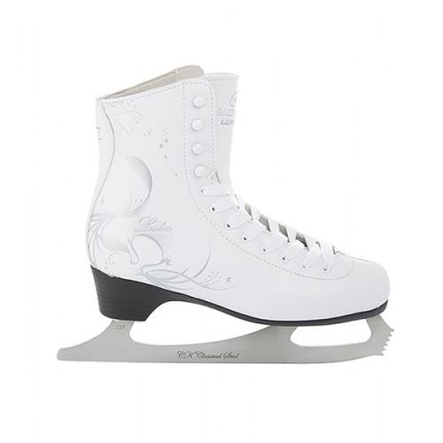 Фигурные коньки СК (Спортивная Коллекция) Ladies Lux Leather белый