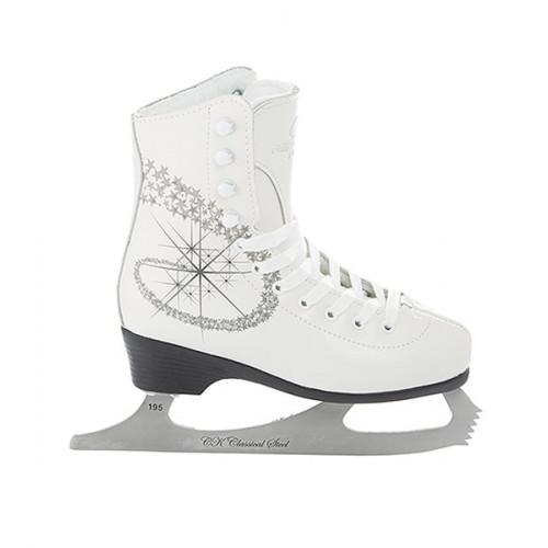 Фигурные коньки СК (Спортивная Коллекция) Princess Fur (детские) белый