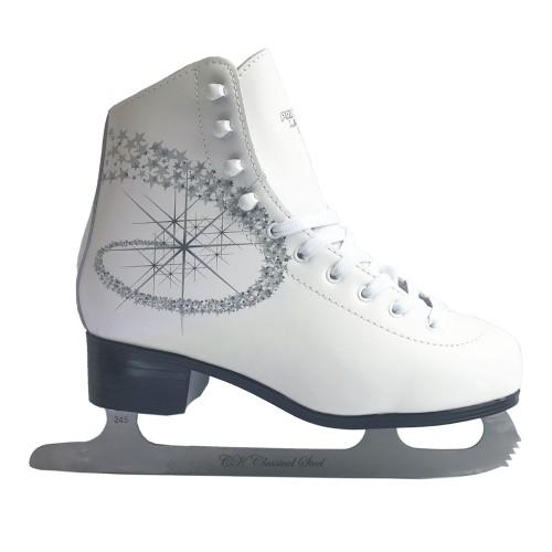 Фигурные коньки СК (Спортивная Коллекция) Princess Lux Leather 100% белый