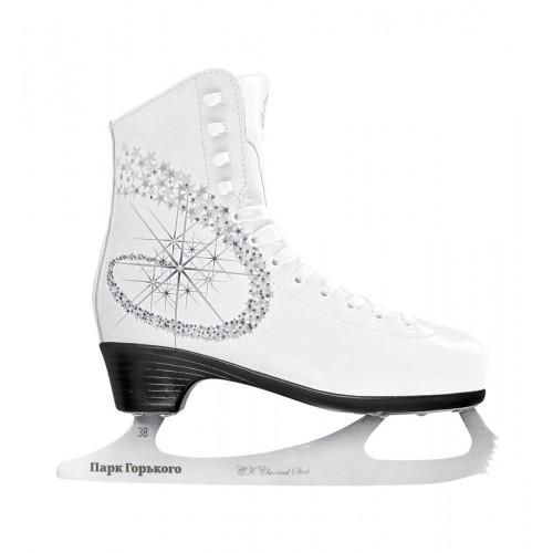Фигурные коньки СК (Спортивная Коллекция) Princess Lux Leather 100% ПГ белый