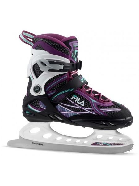 Прогулочные коньки Fila PRIMO ICE LADY черный/белый/фиолетовый