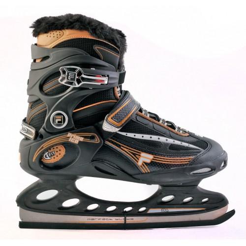 Прогулочные коньки Fila PRIMO ICE черный/оранжевый