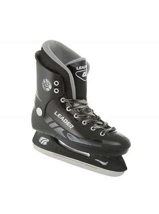 Хоккейные коньки СК (Спортивная Коллекция) Leader черный
