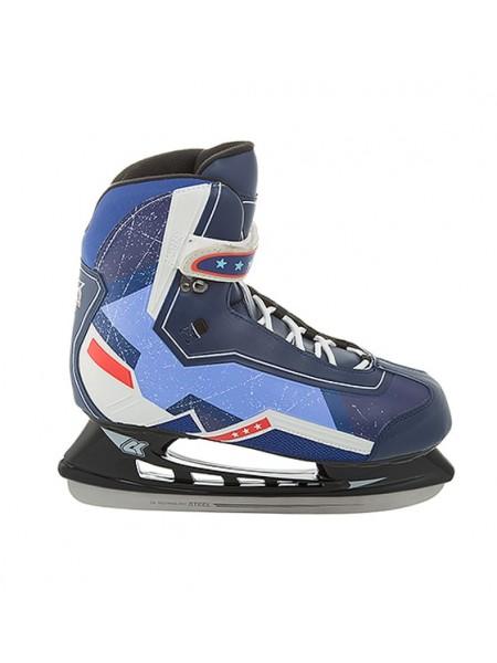 Хоккейные коньки СК (Спортивная Коллекция) Молодежка MHS синий