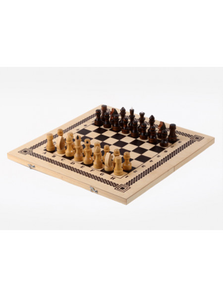 Игра два в одном (шашки, шахматы) 400*200*36 Орловская ладья