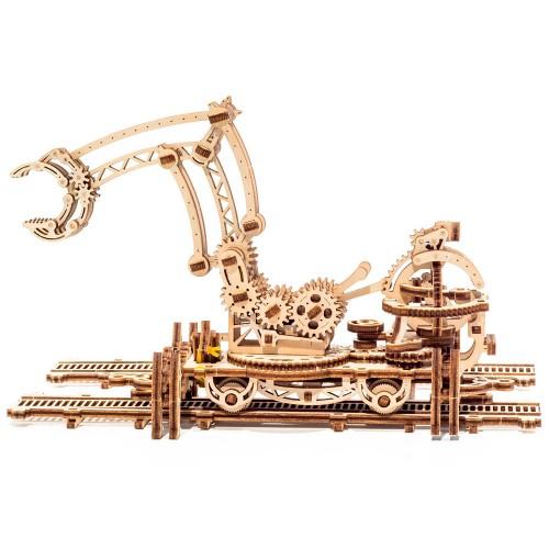 Деревянный конструктор UGEARS Манипулятор на рельсах