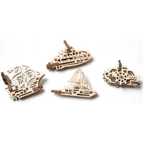 Деревянный конструктор UGEARS Фиджет корабли