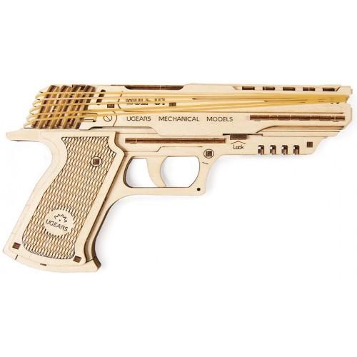 Деревянный конструктор UGEARS Пистолет Вольф-01