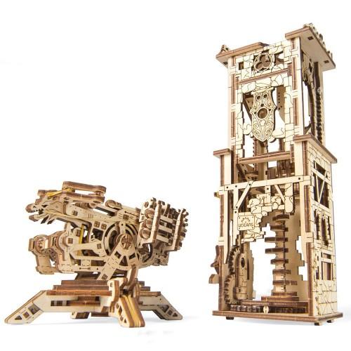 Деревянный конструктор UGEARS Башня-аркбаллиста