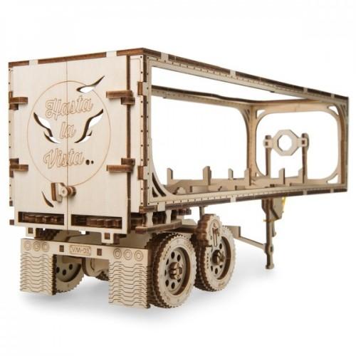Деревянный конструктор UGEARS Полуприцеп к модели Тягач VM-03