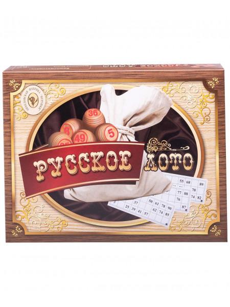 Лото 052-11, бочонок деревянный, картонная коробка, коричневый