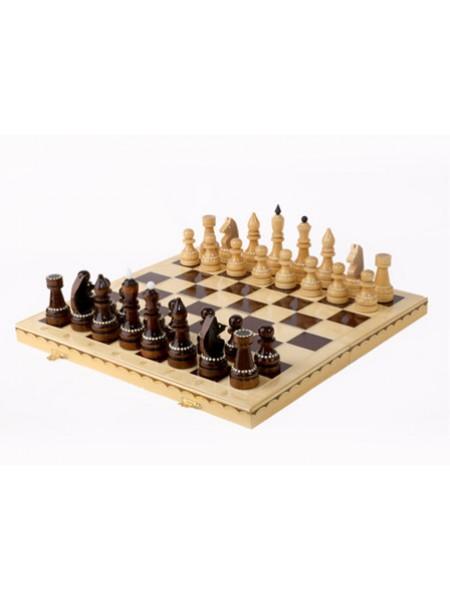 Шахматы турнирные инкрустированные 400*200*55 Орловская ладья