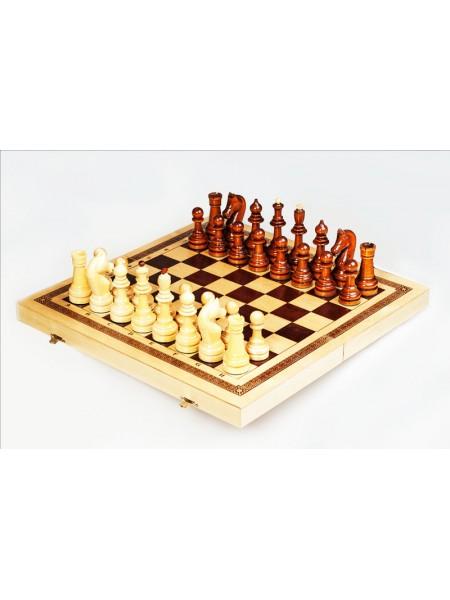Шахматы точёные офисные с доской 560*280*70 Орловская ладья