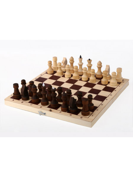 Шахматы обиходные парафинированные с доской (без подклейки) 290*145*38 Орловская ладья