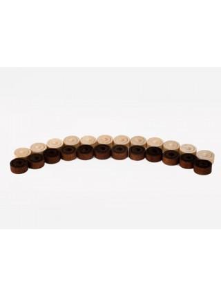 Шашки деревянные с картонным полем 305*295 Орловская ладья