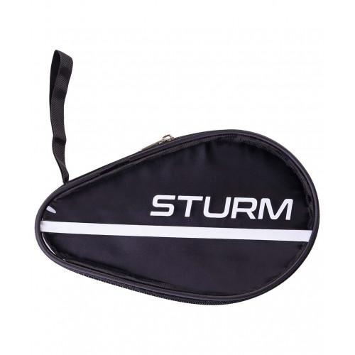 Чехол для ракетки для настольного тенниса Sturm CS-02, для одной ракетки, черный