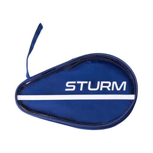 Чехол для ракетки для настольного тенниса Sturm CS-02, для одной ракетки, синий