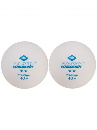 Мячи для настольного тенниса Donic 2* Prestige, белый, 6 шт.