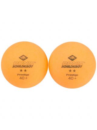 Мячи для настольного тенниса Donic 2* Prestige, оранжевый, 6 шт.