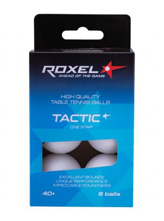 Мяч для настольного тенниса Roxel 1* Tactic, белый, 6 шт.